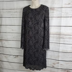 INC | Floral Lace Shift Dress w Flared Sleeves